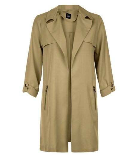 Teens Khaki Zip Pocket Trench Coat | New Look