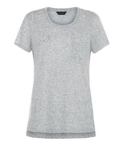 Grey Flecked Single Pocket T-Shirt  | New Look