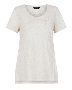 Stone Flecked Single Pocket T-Shirt  | New Look