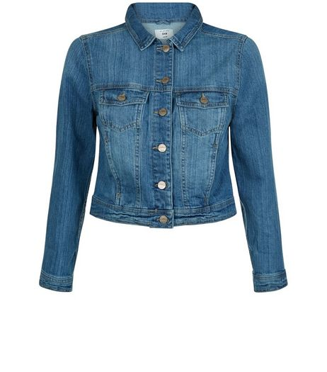 Petite Blue Double Pocket Denim Jacket  | New Look