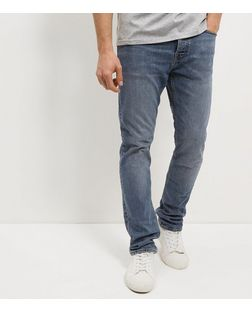 Blue Washed Slim Fit Jeans  | New Look