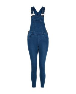Petite Blue Pocket Front Dungarees | New Look