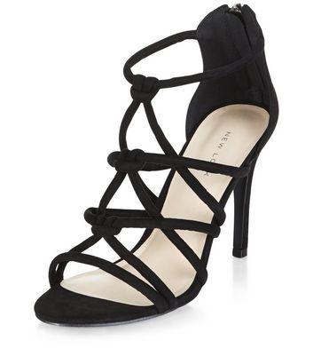 Sandalo  donna Black Knot Strap Heeled Sandals