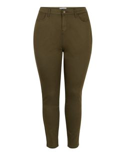 Plus Size Khaki Skinny Jeans | New Look