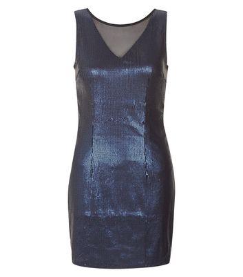 Madam Rage Blue Sequin Bodycon Dress