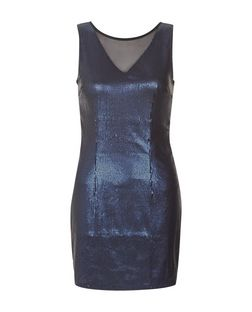 Madam Rage Blue Sequin Bodycon Dress | New Look