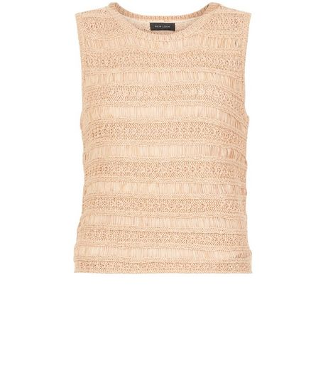 Pink Ladder Stitch Vest  | New Look