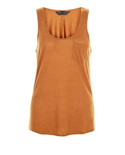 Tan Single Pocket Vest | New Look