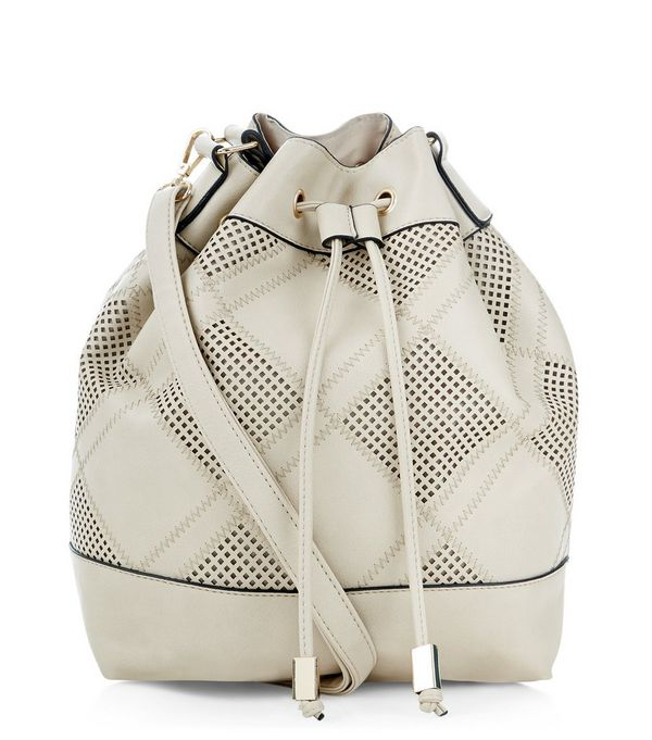 Cream Patchwork Duffle Bag