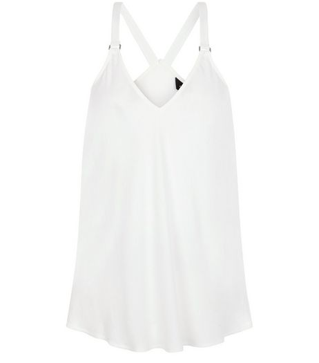White Buckle Strap Cami | New Look