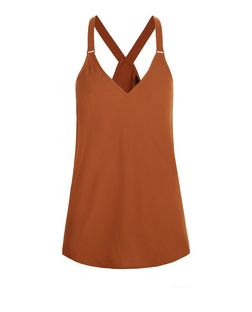 Tan Buckle Strap Cami  | New Look