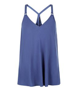 Blue Buckle Strap Cami  | New Look