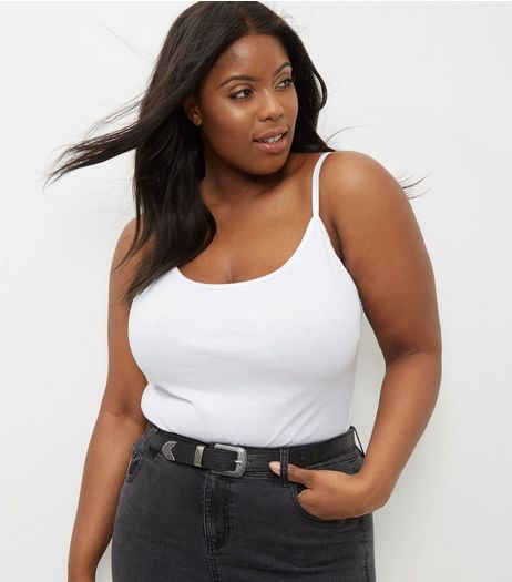 Curves White Vest | New Look