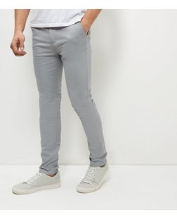 Pale Grey Skinny Chinos | New Look