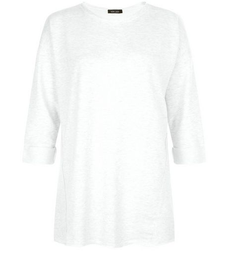 Stone Panelled Roll Sleeve Tunic Top  | New Look