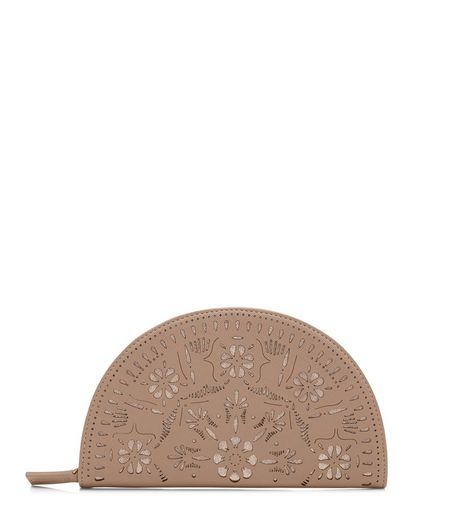 Stone Laser Cut Out Curved Purse  | New Look