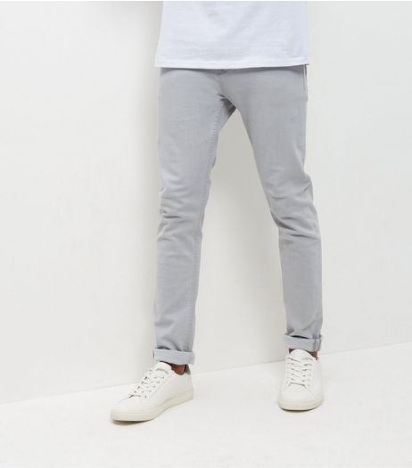 Pale Grey Skinny Jeans  | New Look