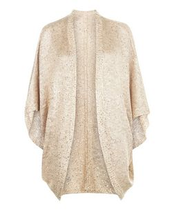 Apricot Camel Sequin Cocoon Cardigan | New Look
