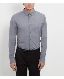 Grey Long Sleeve Shirt  | New Look