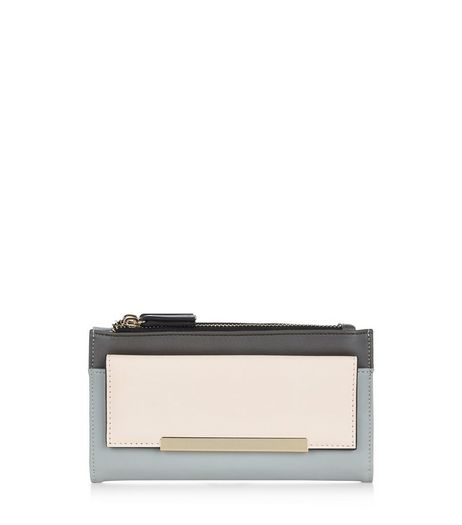 Grey Fold Over Pocket Purse | New Look