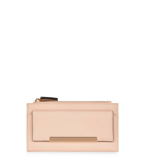 Pink Fold Over Pocket Purse | New Look
