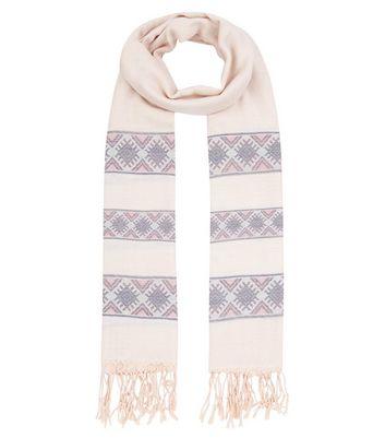 pink-aztect-print-jacquard-scarf