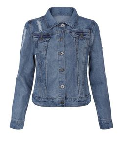 Brave Soul Blue Ripped Denim Jacket  | New Look