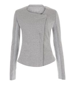 Brave Soul Grey Ribbed Panel Blazer | New Look