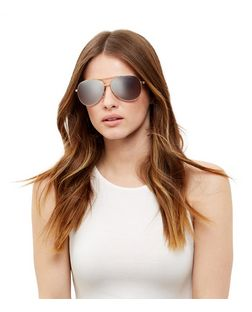 Pink Mirrored Pilot Sunglasses | New Look