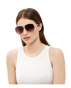 White Oversized Pilot Sunglasses | New Look