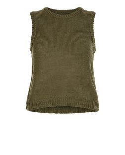 Brave Soul Khaki Zip Side Vest | New Look