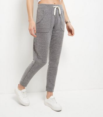 Grey Double Pocket Drawstring Joggers