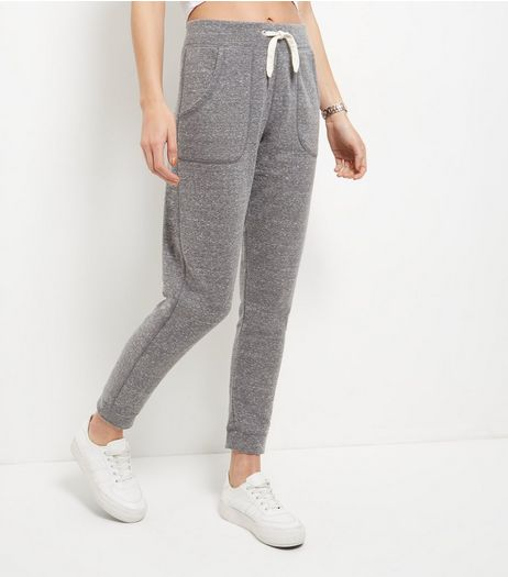 Grey Double Pocket Drawstring Joggers | New Look