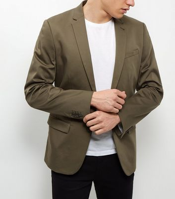 Khaki Sateen Blazer