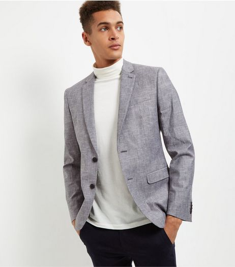 Grey Double Button Blazer | New Look
