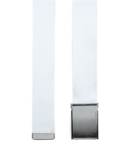 White Textured Belt  | New Look