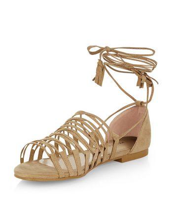 camel-suedette-ghillie-sandals