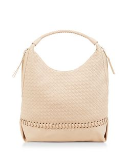 Stone Woven Shoulder Bag | New Look