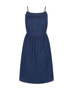 Brave Soul Blue Denim Strappy Dress | New Look