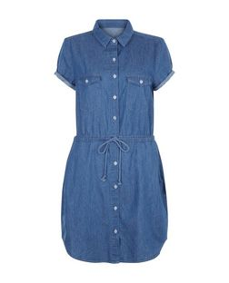 Brave Soul Blue Denim Shirt Dress | New Look