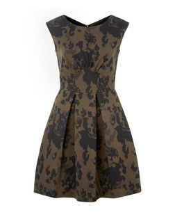 Closet Khaki Camouflage Print Box Pleat Dress | New Look