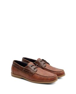Brown Boat Shoes  | New Look