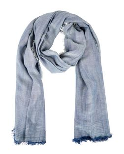 Blue Fringed Scarf | New Look