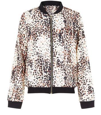 Jumpo Brown Leopard Print Jacket