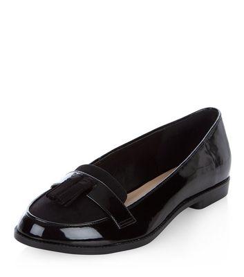 Mocassini  donna Black Patent Tassel Front Loafers