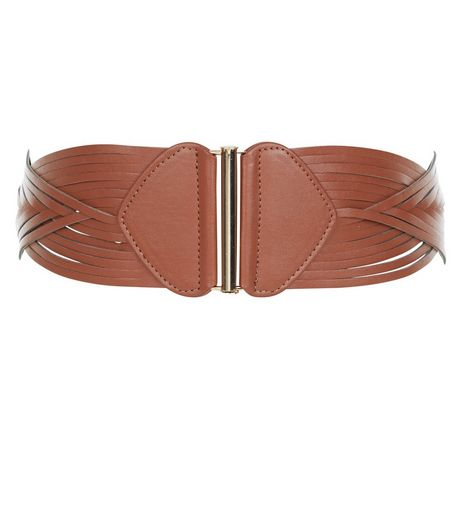 Tan Woven Strap Waisted Belt  | New Look