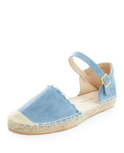 Teens Blue Denim Espadrilles | New Look