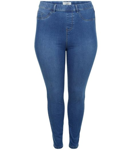 Curves Blue Jeggings | New Look