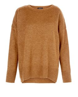 Tan Boxy Slouch Jumper  | New Look