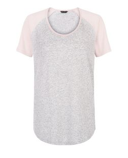 Shell Pink Raglan T-Shirt | New Look